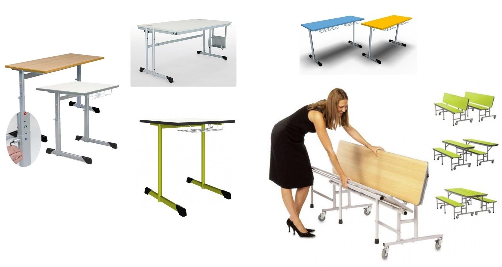 Kunststoffstühle und -Tische