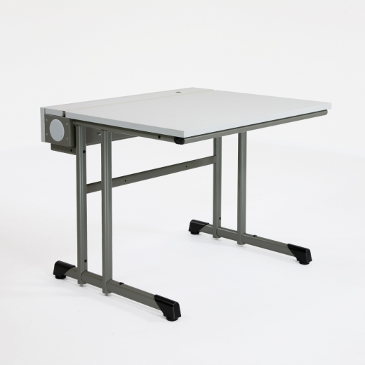 Kufen-Computertisch mit ausziehbarer Platte