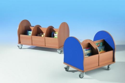 Bücherwagen mit 3 Fächern