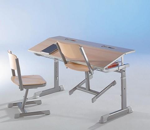 Aluminium Zweier-Tisch 130 x 60cm, höhenverstellbar