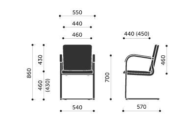 freischwinger stuhl mit armlehnen deutsche objekt. Black Bedroom Furniture Sets. Home Design Ideas
