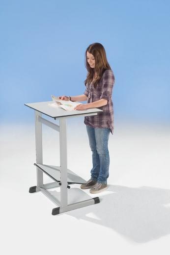 Schülertisch höhenverstellbar mit Vollkernplatte