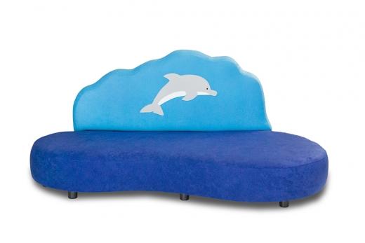 Kindersofa Flipper der Delphin- B1/ schwer entflammbar