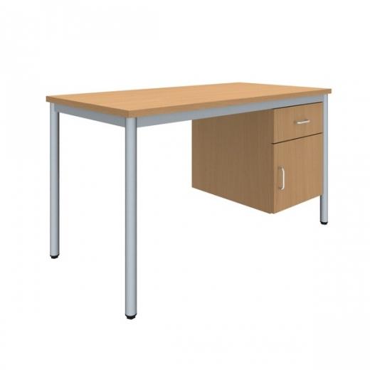 Lehrertisch mit Unterbau