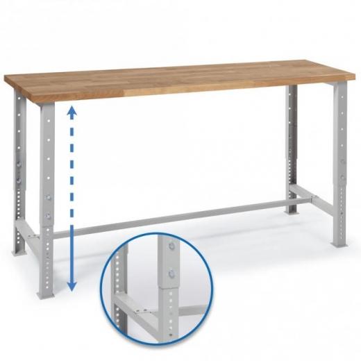 Werkbank höhenverstellbar/ Breite 150 cm