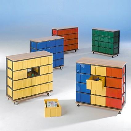 aufbewahrungsregal 16 hohe inboxen. Black Bedroom Furniture Sets. Home Design Ideas