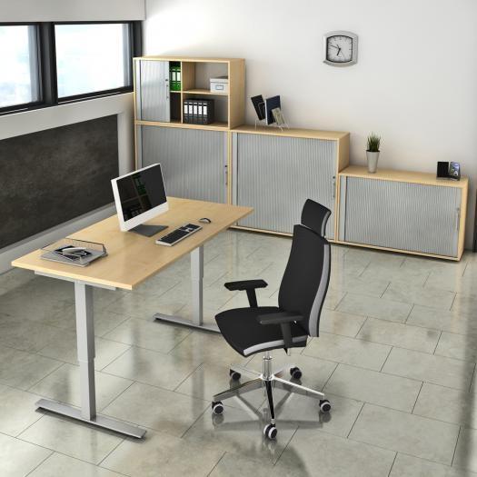 schreibtisch h henverstellbar. Black Bedroom Furniture Sets. Home Design Ideas