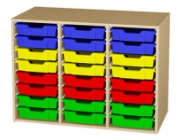 Materialcontainer als Aufsatzschrank