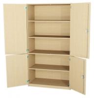 Schrank ohne Mittelwand - 2 x 2 Türen