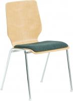 Stapelstuhl mit Sitzpolster