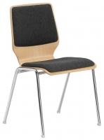 Stapelstuhl -  Sitz- und Rückenlehne gepolstert
