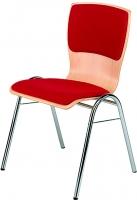 Stapelstuhl   Sitz- und Rückenlehne gepolstert