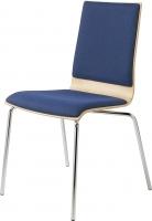 Stapelstuhl / Sitz- und Rückenlehne gepolstert