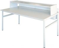 Computer-Arbeitstisch mit hoher Frontblende