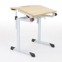 Schülertisch für Kleinwüchsige - geteilt neigbar B/T: 70x60 cm