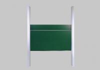 Pylonen - Doppelschiebetafel - weiß / grün