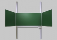 Pylonen - Klappschiebetafel - weiß / grün
