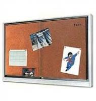 Infovitrine mit Alu-Rahmen - Kork-Rückwand  BxHxT 91 x 66 x 5,2 cm