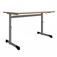 Schülertisch in L bzw. C-Form - höhenverstellbar