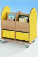 Bücherwagen mit 2 großen InBoxen