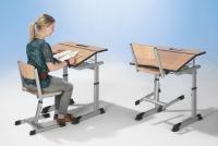Aluflex Einer-Tisch 70 x 60cm, höhenverstellbar