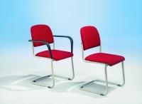 Freischwinger Stuhl mit Polster