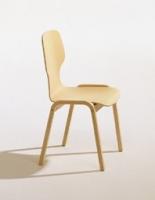 Stuhl- Holzschale