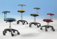 Drehstuhl- fahrbar mit Rückenlehne