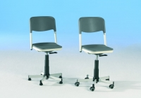 Drehspindelstuhl- Sitz und Rücken Kunststoff