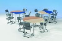 Trapezwellentisch für Schüler (1 Tisch)