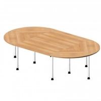 Besprechungstisch Oval / 280 cm Breite