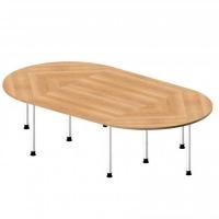 Besprechungstisch Oval / 320 cm Breite