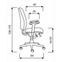 Bürostuhl - Synchronmechanik - mit Armlehnen
