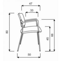 Konferenzstuhl - mit Armlehnen, 2er- Set