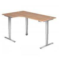 Schreibtisch- höhenverstellbar Eckform