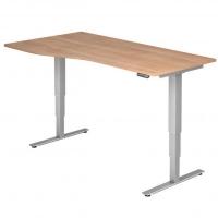 Schreibtisch- höhenverstellbar Freiform
