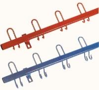 Garderoben-Hakenleisten einfarbig - Haken nach vorne oder nach hinten