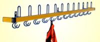 Garderoben-Hakenleiste- zweifarbig