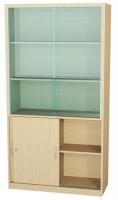 Schränke mit Holz- und Glasschiebetüren
