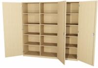 Schrank-Set 2-teilig mit 3 Türen