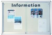 Infovitrine mit Alu-Rahmen, weiße Rückwand   200 x 100 x 5,2 cm