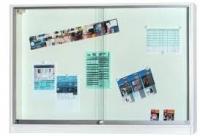 Informationsvitrine weiß mit Korpus 100 x 100 x 12cm
