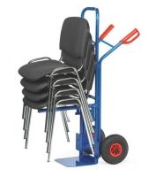 Stapel-Stuhlkarre mit Vollgummibereifung