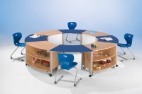 Achtelkreistisch- Set Besprechungsinsel