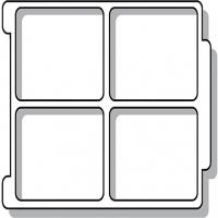 Sortiereinsatz für ErgoTray Box/ 4 Fächer