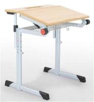 höhenverstellbarer Schülertisch - geteilt neigbar