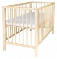 Kinderbett mit Rundstäben 70x140 cm