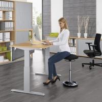 Sitz-/Stehschreibtisch Basic - höhenverstellbar 725-1185 mm