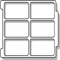 Sortiereinsatz für ErgoTray Box/ 6 Fächer