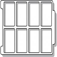 Sortiereinsatz für ErgoTray Box/ 8 Fächer